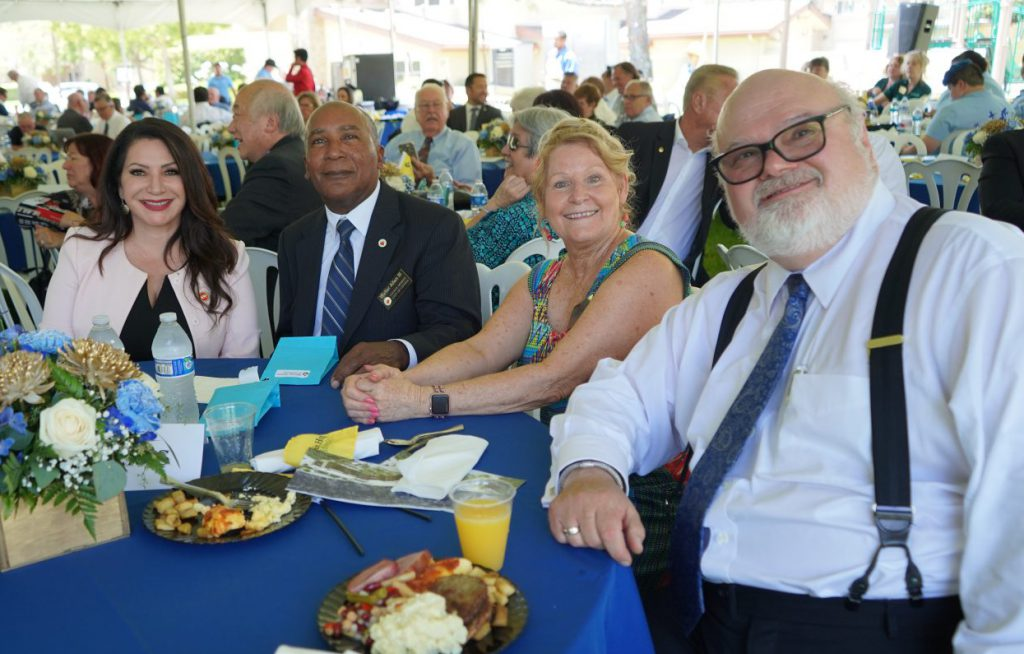 From left to right: State Senator Susan Rubio, Covina City Council Member Walter Allen III, Executive Director of Covina Residential Services Judy Figueroa, and President and CEO Masonic Homes of California Gary Charland